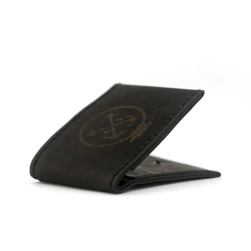 Кожаный мужской кошелек Anchor Black Ex