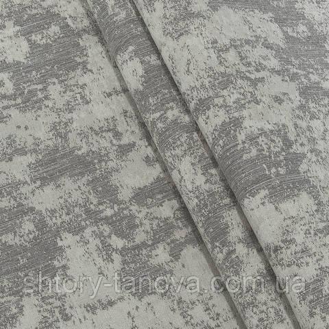 Декоративная ткань, жаккард, лофт серый