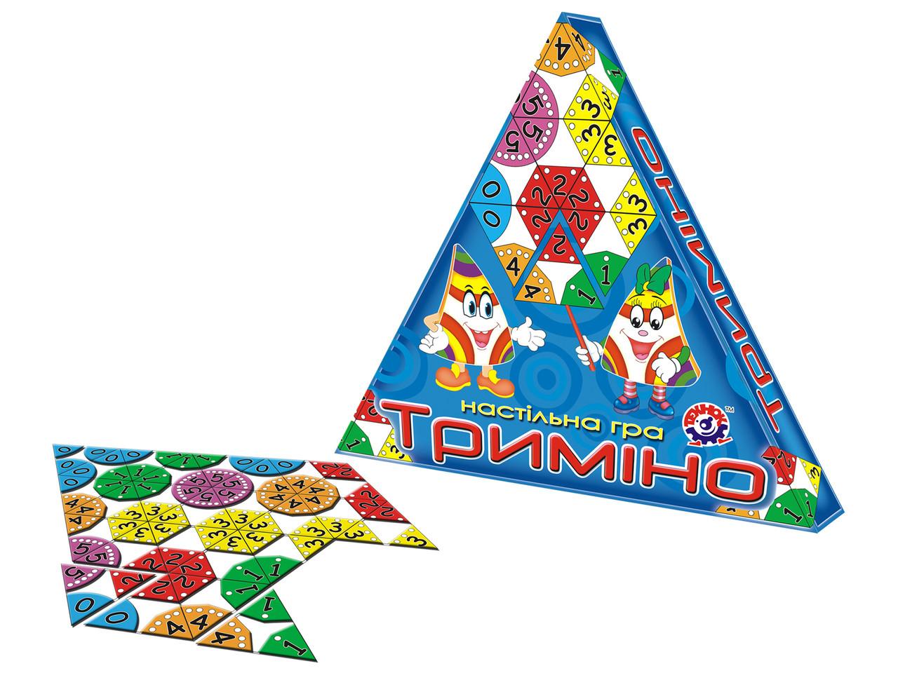 """Настольная игра """"Тримино"""" 2827 ТМ Технок (укр)"""