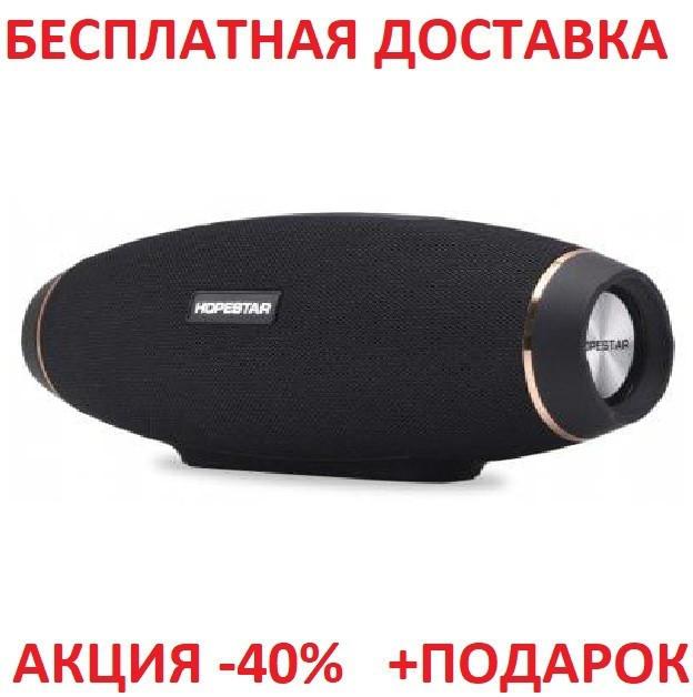 Портативная переносная колонка Hopestar H20 BLACK Bluetooth Блютуз акустика беспроводная мобильная
