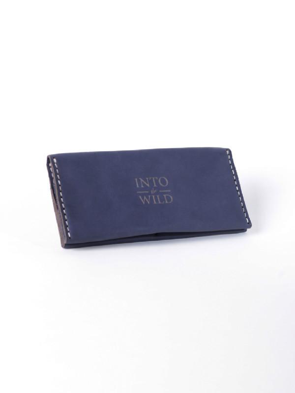 Кожаное синее мужское портмоне