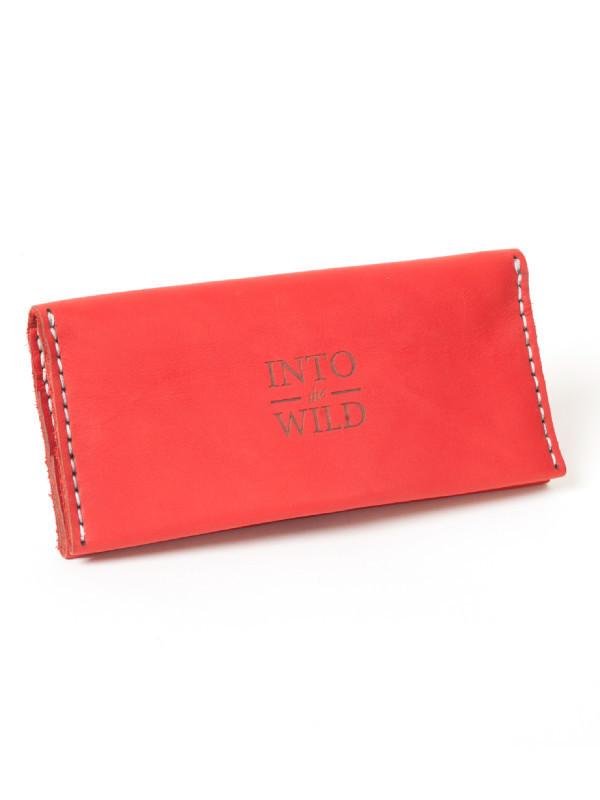 Кожаное красное мужское портмоне