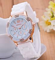 Часы наручные женские GENEVA Lady белые, фото 1