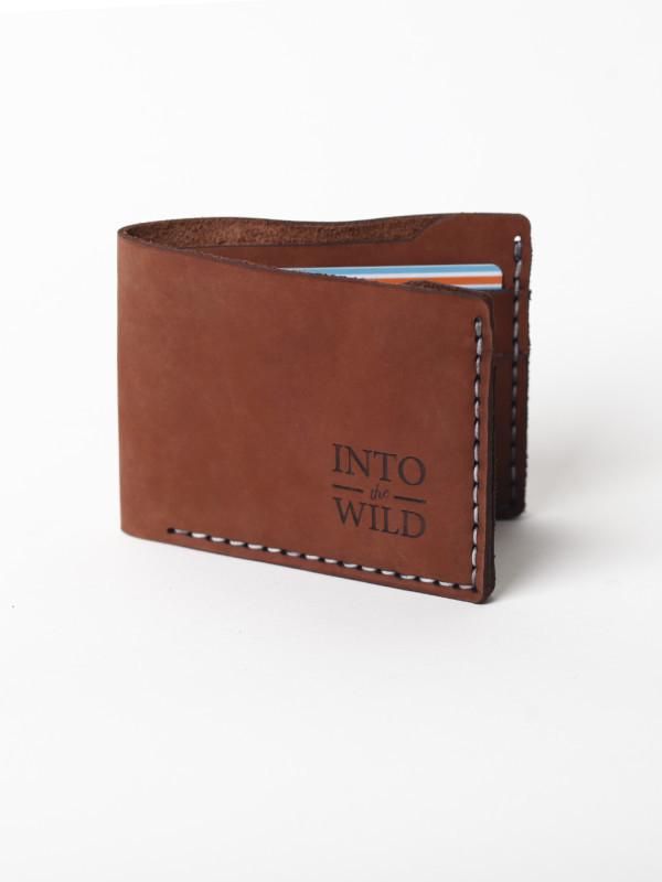Кожаный светло-коричневый мужской кошелек
