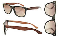 Солнцезащитные очки Ray Ban Wayfarer мужские и женские, защита UV400,под дерево