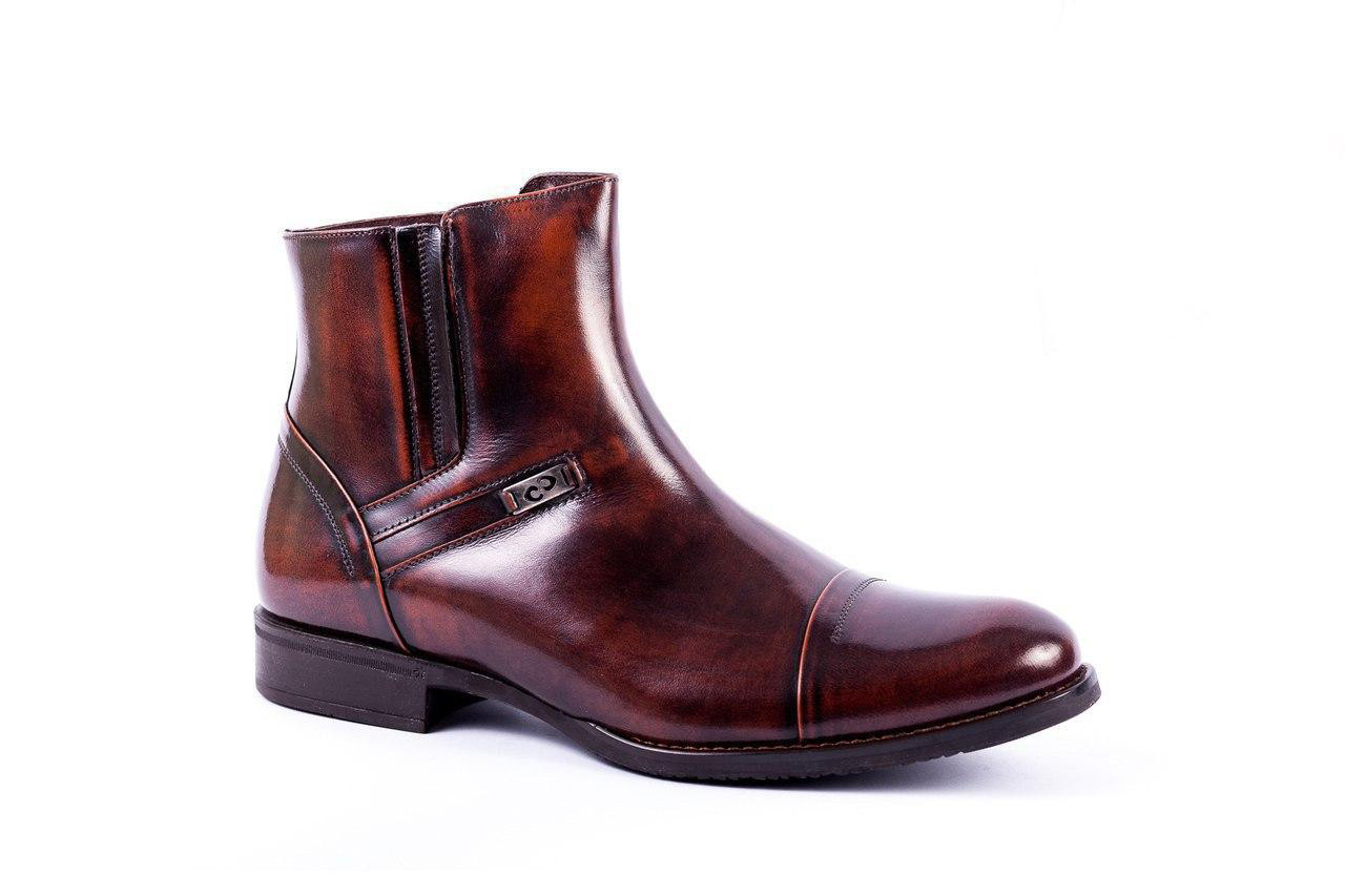 Зимові черевики з натуральної шкіри і цигейки. Остання пара 42 розмір!