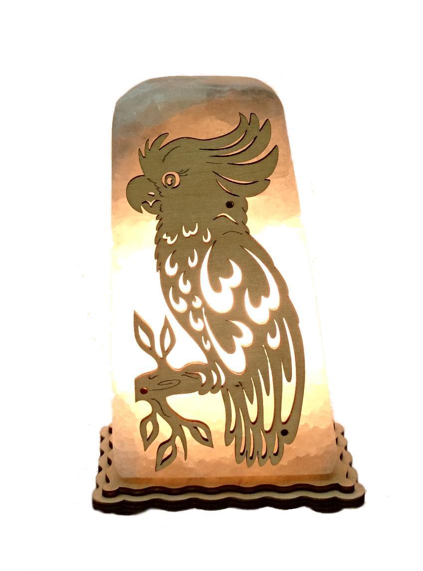 Соляной светильник Попугай