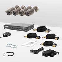 Комплект проводного видеонаблюдения Страж AHD Универсал