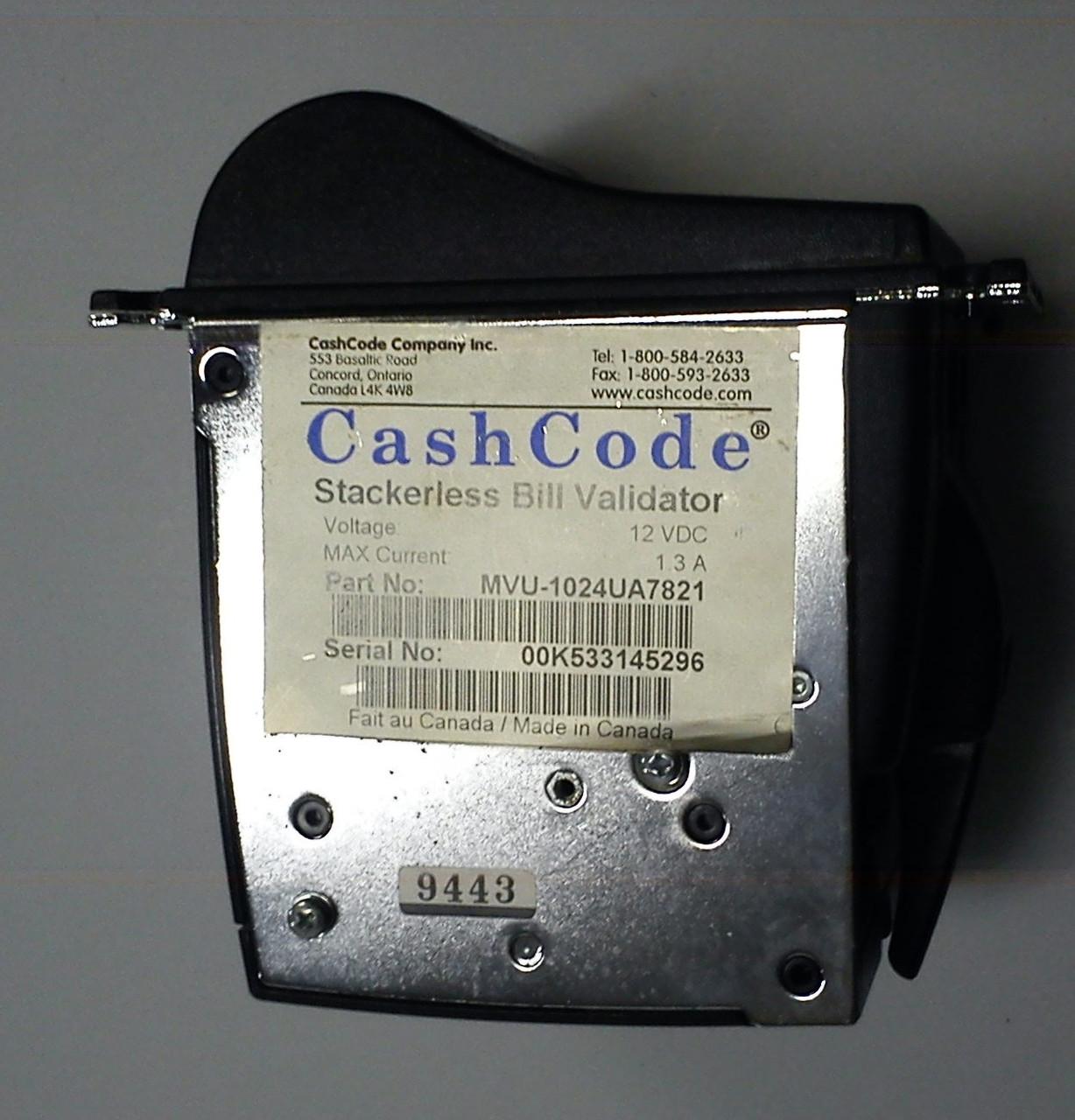 Купюроприемник CashCode MVU б\у, лицевая панель 1024 - Vends Pro в Киеве