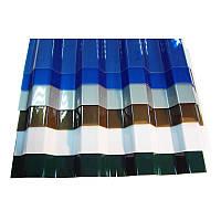 Профилированный монолитный поликарбонат Borrex 0,8 мм, размер листа 1050х6000 мм, цветной, фото 1
