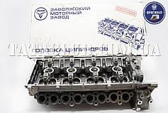 Головка блока цилиндров (ГБЦ 406.1003007-40) в сборе с клапанами (пятиопорная)