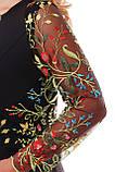 Нарядное  платье Адель черное разноцвет, фото 6