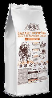 Сухой корм Home Food для взрослых собак крупных пород с индейкой и лососем, 10 кг