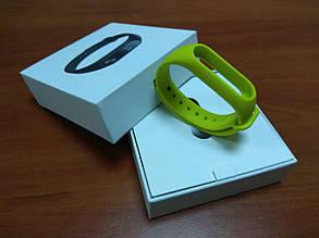 Фитнес-браслет Xiaomi Mi Band 2 (Black) ОРИГИНАЛ + ремешок (Green) Гарантия 3 месяца, фото 2