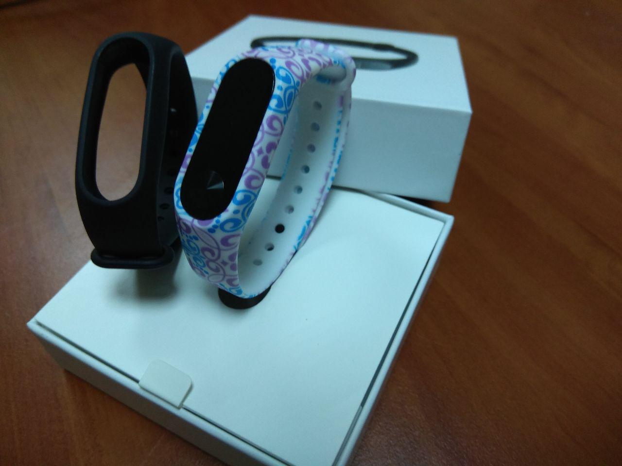 Фитнес-браслет Xiaomi Mi Band 2 (Black) ОРИГИНАЛ + ремешок (Mix color 3) Гарантия 3 месяца