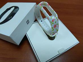 Фитнес-браслет Xiaomi Mi Band 2 (Black) ОРИГИНАЛ + ремешок (White Rose) Гарантия 3 месяца, фото 2