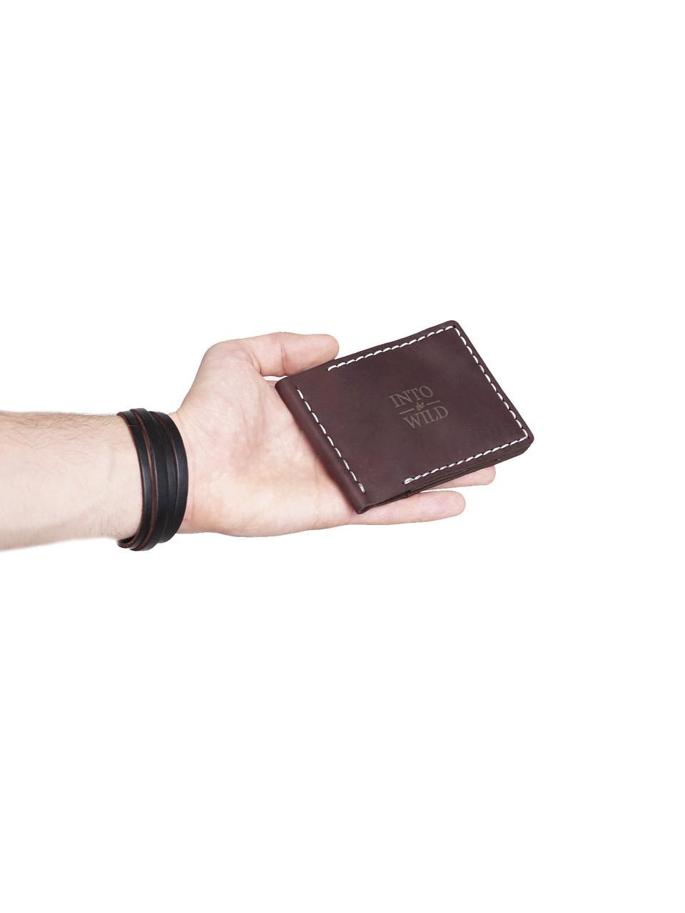 Зажим для денег темно-коричневый