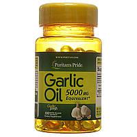 Чесночное масло, Garlic Oil 5000 mg, Puritan's Pride, 100 капсул