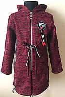 Детский кардиган, полу пальто для девочек теплый, фото 1