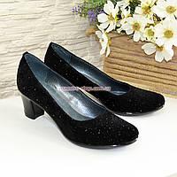 Женские туфли кожаные на каблуке, фото 1