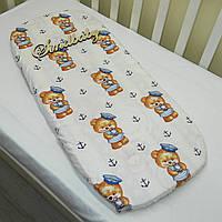 Простынь в коляску для новорожденных -08