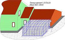 общий вид теплицы совмещённой с домом