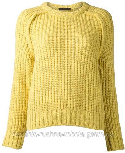 свитер женский вязаный спицами