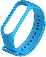 Ремешок UWatch Replacement Rhombus Silicone Band For Xiaomi Mi Band 3/4 Blue, фото 1