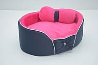 Лежанка для собак и кошек VIP Плюш синяя №1 320х430х100  мм, фото 1