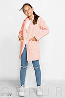 Пальто детское из кашемира (4 цвета) - Розовый KL/-260