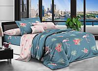 Полуторное постельное белье из сатина