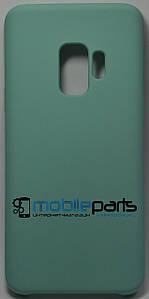 Силиконовый Чехол для Samsung Galaxy S9 Silicone Case (Бирюзовый)