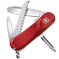 Нож Складной Мультитул Викторинокс Victorinox JUNIOR 09 (85мм, 8 функций), красный 2.3913.SKE
