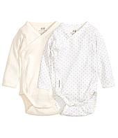 Бодики для новорожденной девочки (2 шт)  0-1 месяц, фото 1