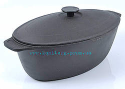 Гусятница чугунная с крышкой 6 л. БИОЛ (чугунная посуда)