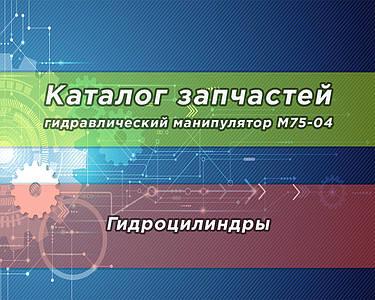 Каталог запчастей гидравлического манипулятора М75-04 | Гидроцилиндры
