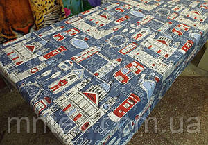 "Ткань для пошива постельного белья бязь Соло Лондон на синем / ""Чарівна Ніч"""
