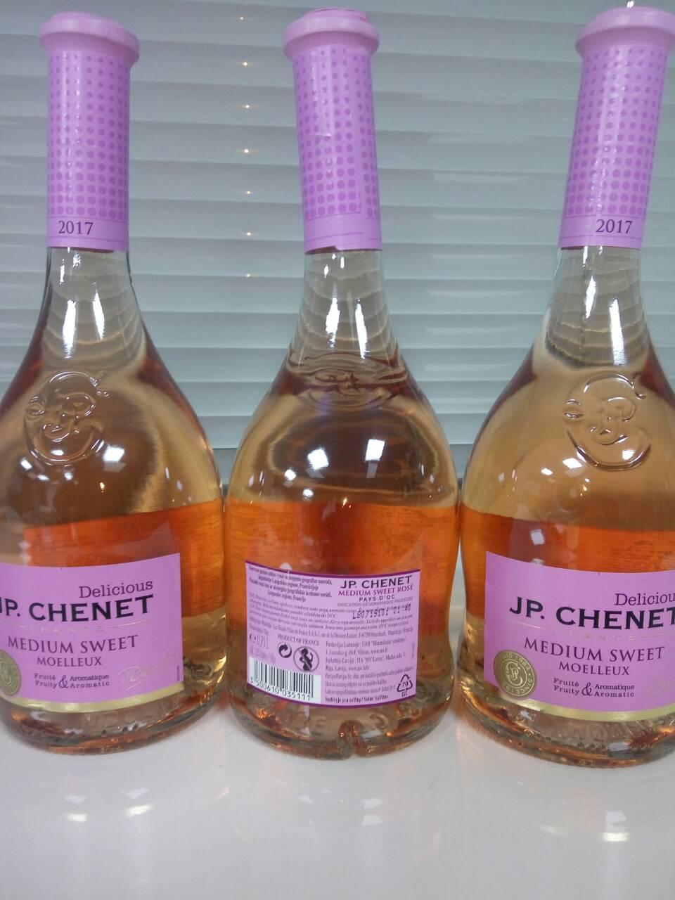 "Вино розовое полусладкое ""J.P. CHENET"" Medium Sweet 0,75л"