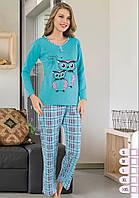 Теплая женская пижама на байке для дома, фото 1