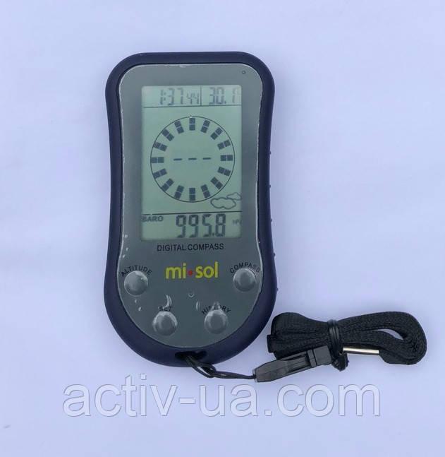 Вологозахисний цифровий компас Misol WS110 з функціями висотоміра, барометра і термометра