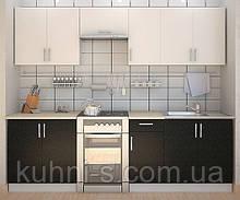 Кухня Киев - фасад сакура бело - черная - размер 2,1м/п