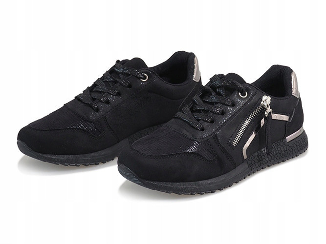 Черные кроссовки с молнией женские