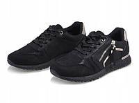 Черные кроссовки с молнией женские , фото 1