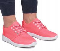 Текстильные женские кроссовки розового цвета , фото 1