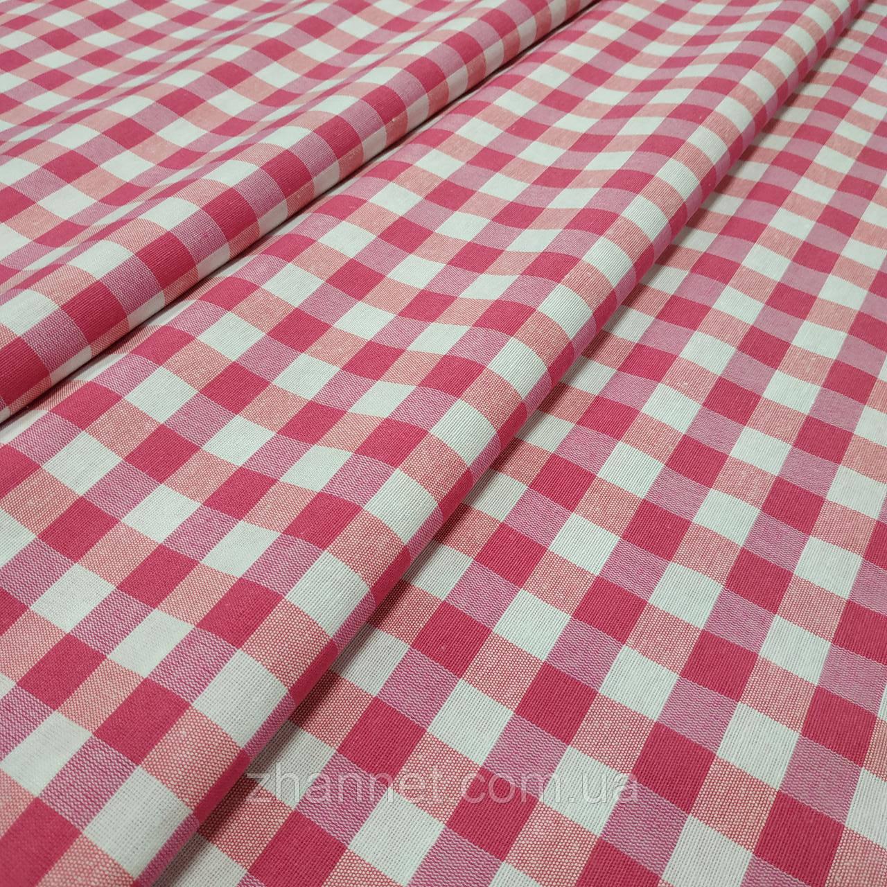 Тканина в клітку Emma рожевий 280 см (256601)