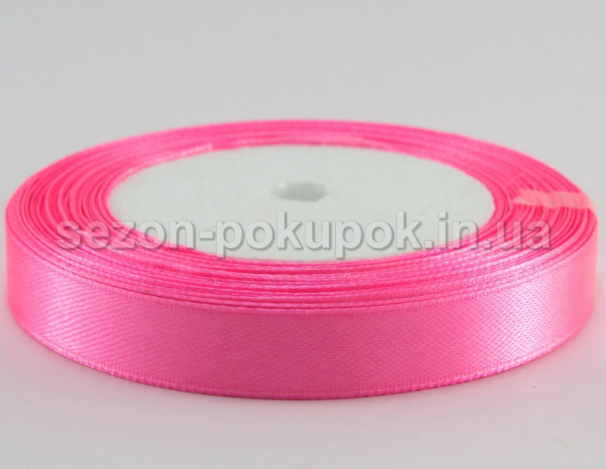 Лента атласная ширина 1,2 см (23 метра) цвет - ярко розовый