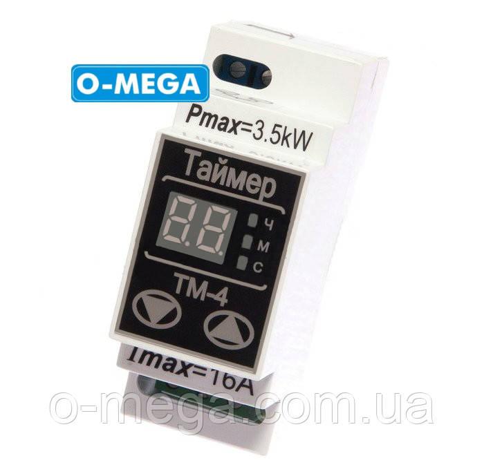 Таймер цифровой ТМ-4 16A многофункциональный