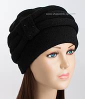 Черная вязаная шапка Марта