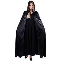 Накидка с капюшоном велюровая 135 см плотная (костюмы на Хэллоуин)