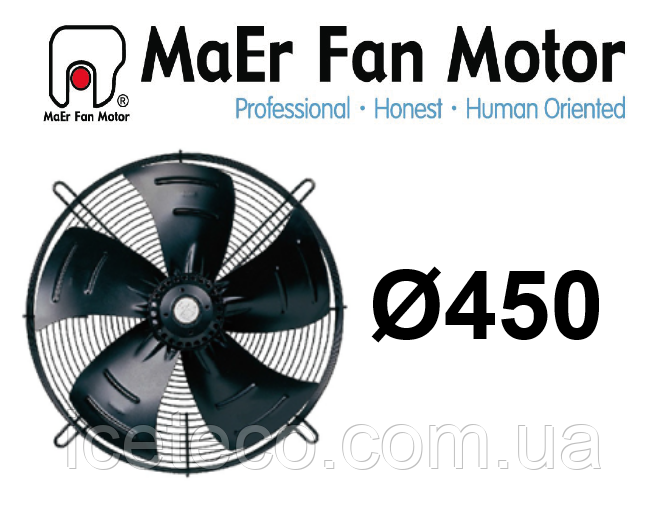 Вентилятор осевой 4E-450-B (YDWF74L60P4-522N-450 B) MaEr Fan Motor